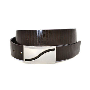 OAKLEY - Mens Brown Square End Leather Belt - BeltNBags