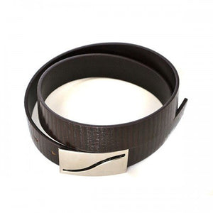 OAKLEY - Mens Brown Square End Leather Belt  - Belt N Bags