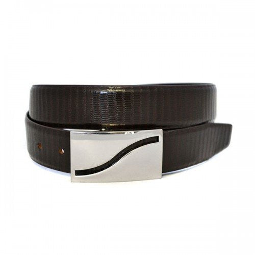 OAKLEY - Mens Brown Tapered End Leather Belt - BeltNBags