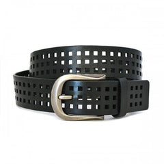 ORANDO - Mens Black Genuine Leather Belt