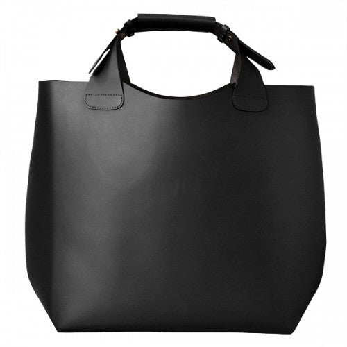 PADDINGTON  Addison Road Womens Black Genuine Leather Tote - BeltNBags
