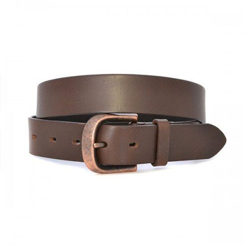 PEDRO - Mens Brown Leather belt-Mens Belt-BeltNBags-BeltNBags