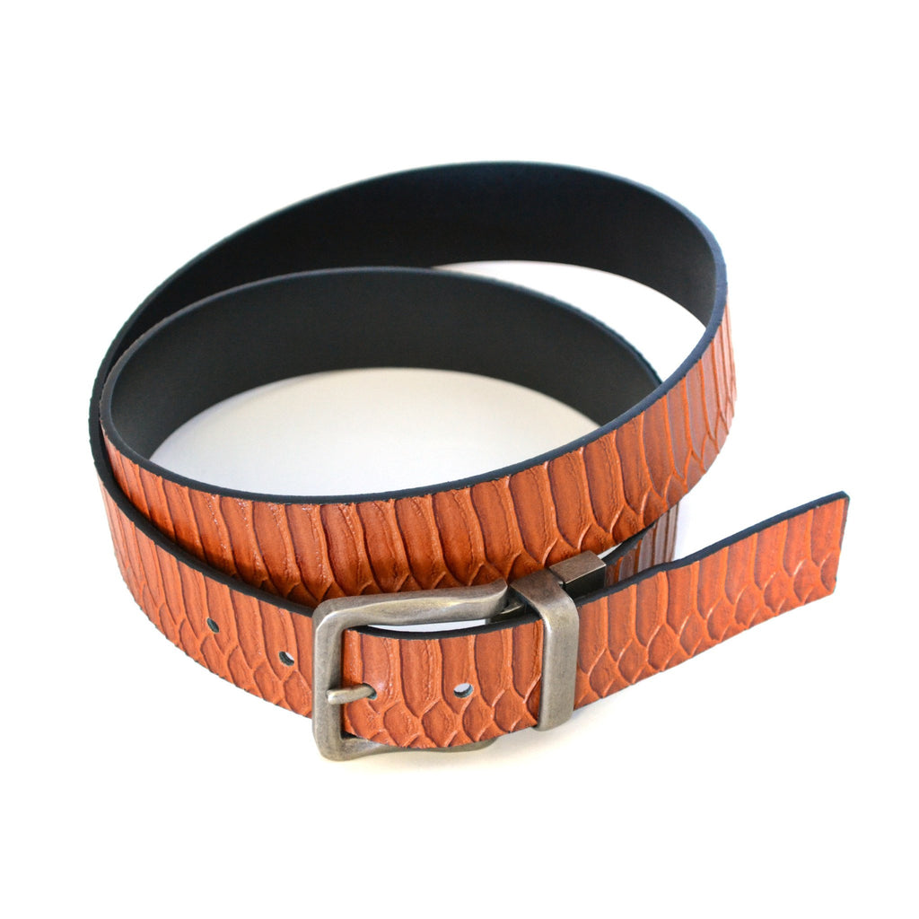 PAOLO - Mens Black Leather Reversible Belt - BeltNBags