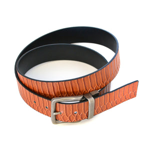 PAOLO - Mens Black Leather Reversible Belt - CLEARANCE  - Belt N Bags