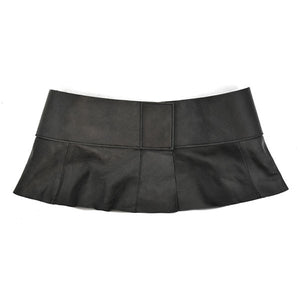 PENE - Black Leather Peplum Belt - CLEARANCE - BeltNBags