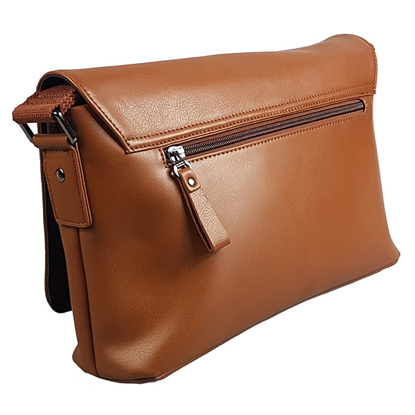 Perth - Mens Brown Genuine Leather Business Satchel Bag