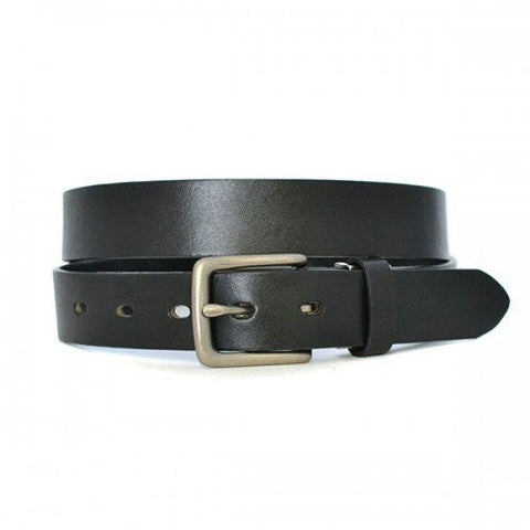 RUSSELL - Unisex Black Genuine Leather Belt