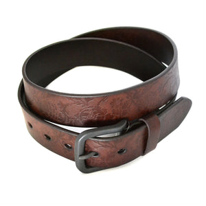 RAGET - Mens Brown Leather Belt - BeltNBags