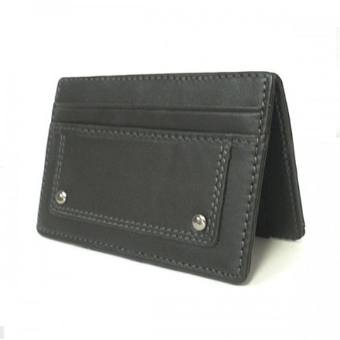 REGAN - Mens Black Genuine Leather Wallet
