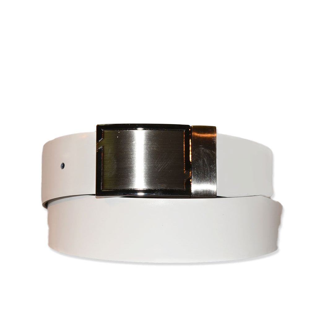 Rhyse - Mens Black and White Reversible Genuine Leather Belt
