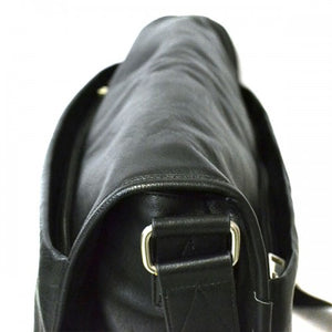 RIVERBANK - Mens Black Leather Crossbody Bag  - Belt N Bags