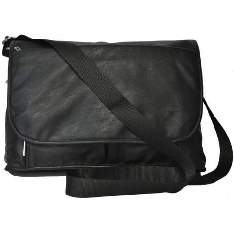 RIVERDALE - Mens Black Faux Leather Bag
