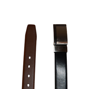 ROHAN - Mens Black and Brown Reversible Genuine Leather Belt