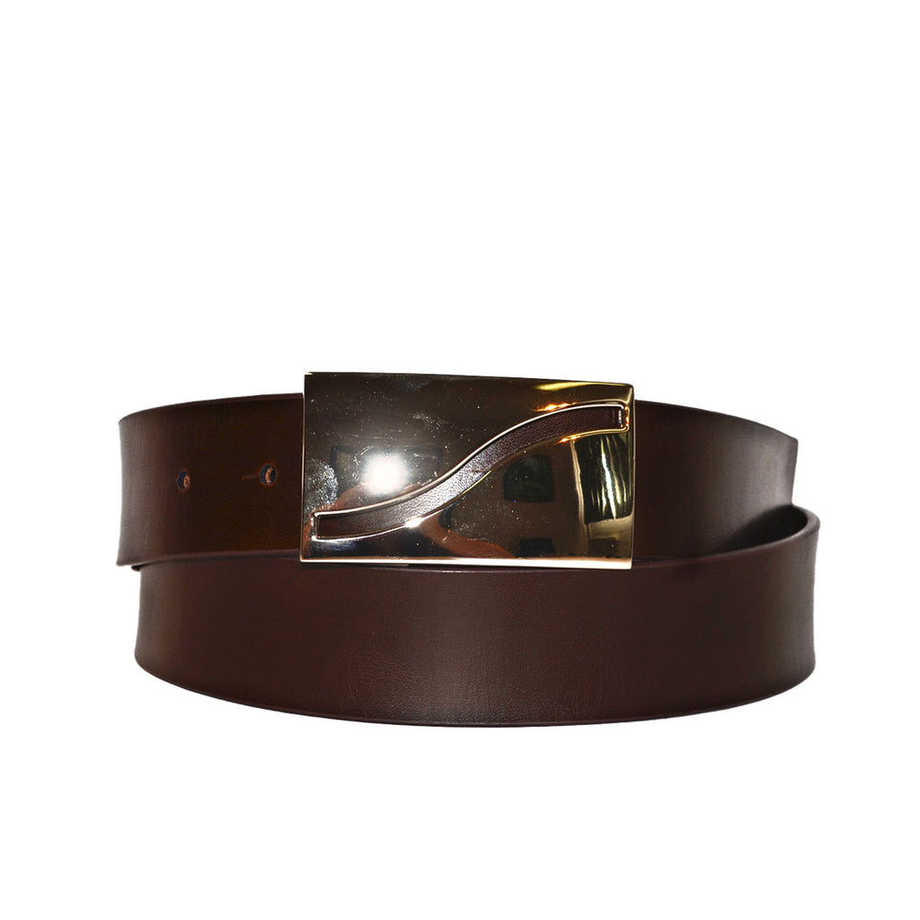 RYAN - Mens Brown Reversible Genuine Leather Belt