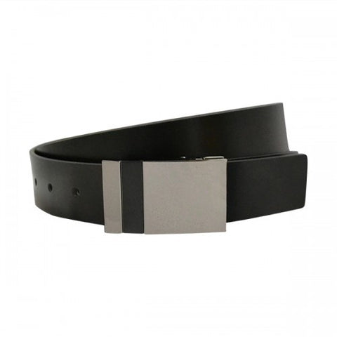 REGENT - Mens Black and Tan Reversible Bonded Leather Belt