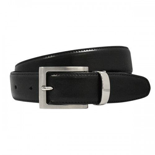 NATE - Boys Black Genuine Leather School Belt - BeltNBags