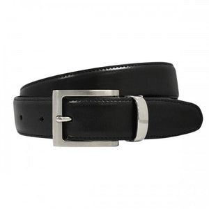 NATE - Boys Black Genuine Leather School Belt-Boys Belt-BeltNBags-BeltNBags