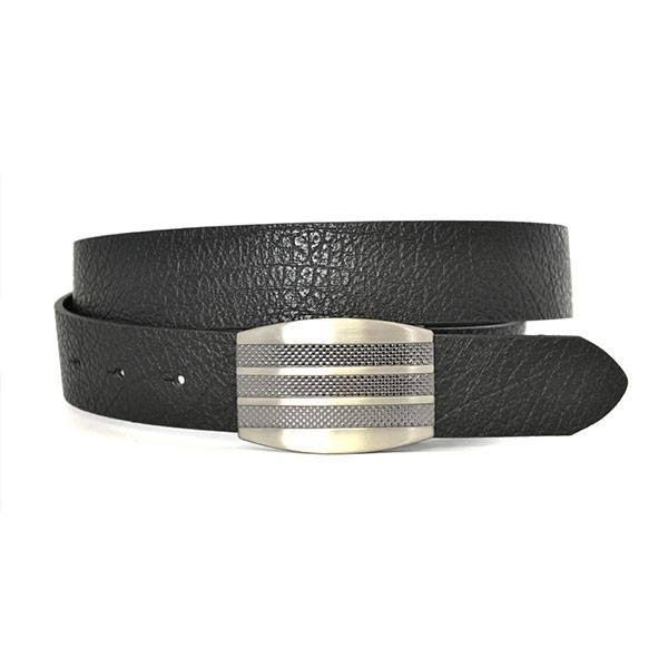 SAEGER - Mens Black Leather Reversible Belt  - Belt N Bags