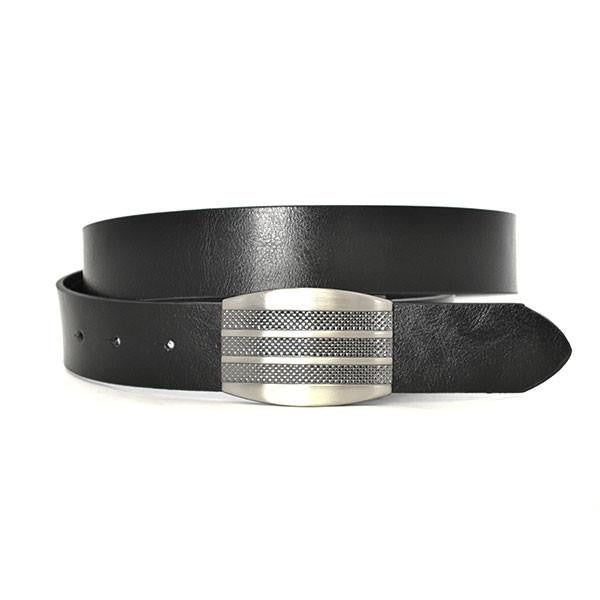 SAEGER - Mens Black Leather Reversible Belt - BeltNBags