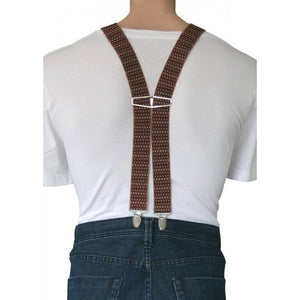 SEAN - Mens Brown & Beige Fashion Braces - BeltNBags