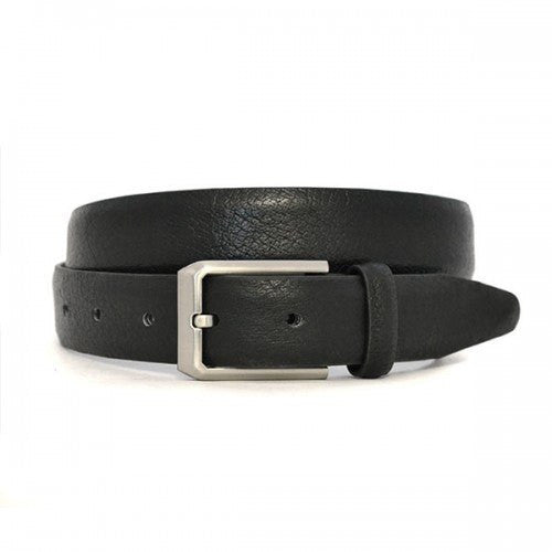 SEBASTIAN - Mens Black Leather Dress Belt - BeltNBags