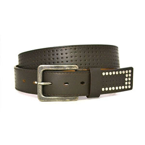 SIMON - Mens Brown Leather Belt-Mens Belt-BeltNBags-BeltNBags