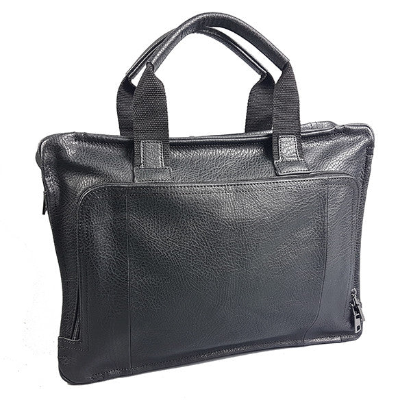 SIMON - Mens Leather Laptop Satchel Bag - BeltNBags