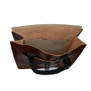 SIMPSON - Mens Brown Leather Business Bag