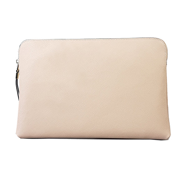 SORRENTO- Blush Structured Saffiano Clutch - BeltNBags