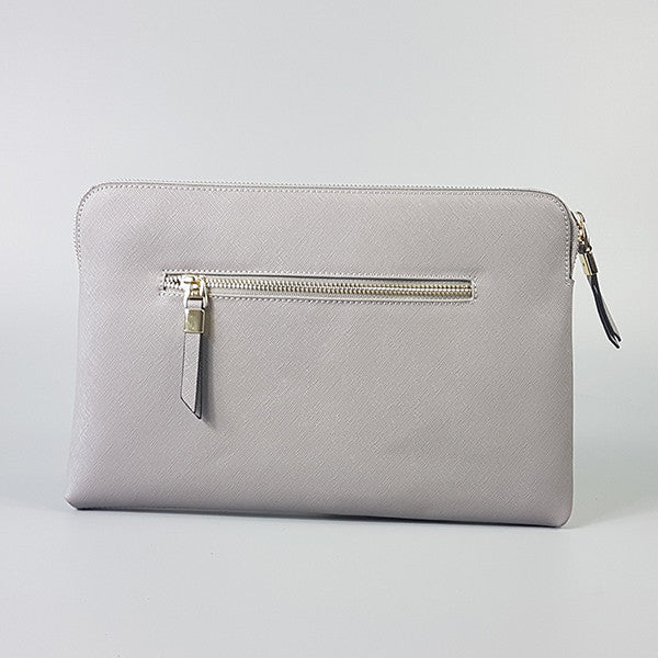 SORRENTO-Storm Structured Saffiano Clutch  - Belt N Bags