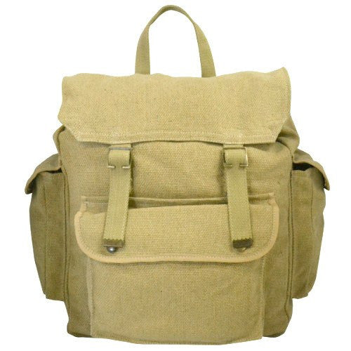 GIBSON - Khaki Canvas Backpack - Belt N Bags