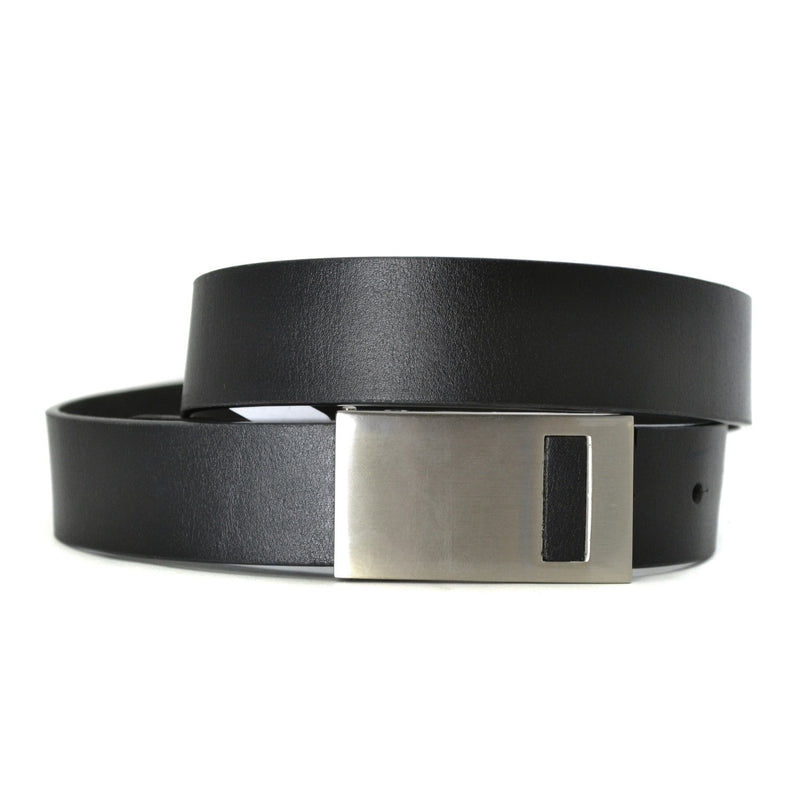 THOMAS - Mens Black Leather Dress Belt  - Belt N Bags