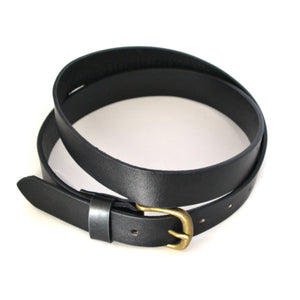 TOBEN - Mens Black Leather Dress Belt  - Belt N Bags