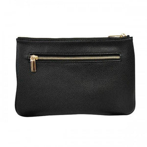 PENNY - Womens Black Faux Leather Crossbody Bag - BeltNBags