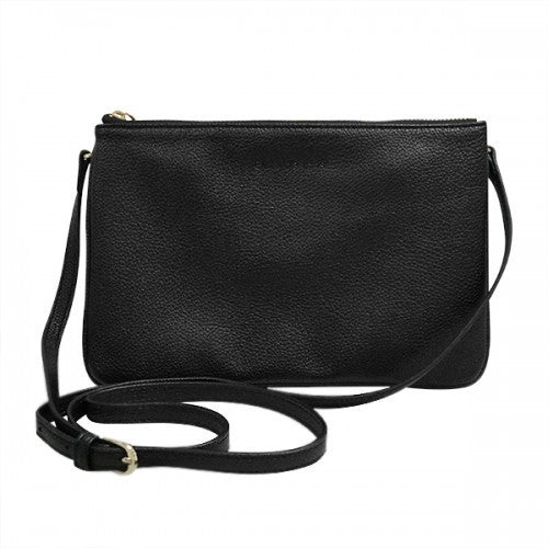 PENNY - Womens Black Faux Leather Crossbody Bag  - Belt N Bags