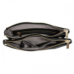 PENNY - Womens Black Faux Leather Bag