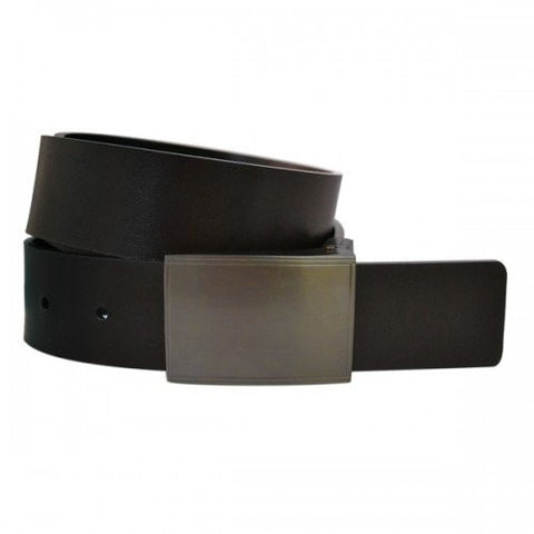 TRIBECA - Mens Black and Brown Bonded Leather Belt