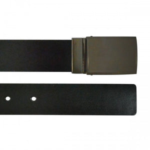 TRIBECA - Mens Black and Brown Bonded Leather Belt - BeltNBags