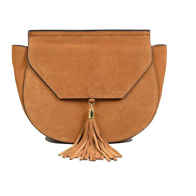 TAMARAMA - Addison Road Tan suede saddlebag