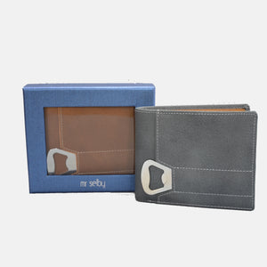 Tiger - Mens Tan Genuine Leather Wallet with Bottle Opener in Gift Box - BeltNBags