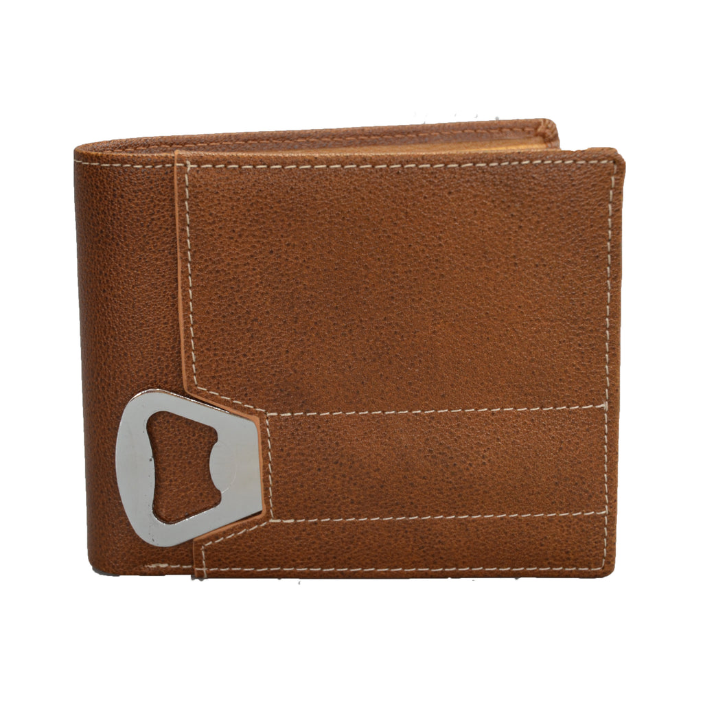 Tiger - Mens Tan Genuine Leather Wallet with Bottle Opener in Gift Box  - Belt N Bags