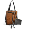 TOORAK - Tan Luxury Leather Hero Calfhair Tote Bag  - Belt N Bags