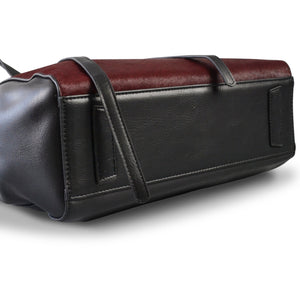 TOORAK - Wine Red Leather Hero Cowhide Tote Bag