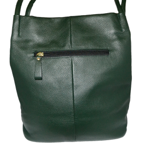 ULTIMO - Forest Green Soft Pebbled Leather Handbag - Display Item- CLEARANCE