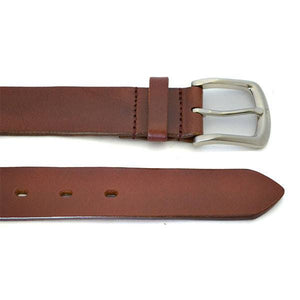 WARD - Mens Brown Tan Leather Belt - BeltNBags