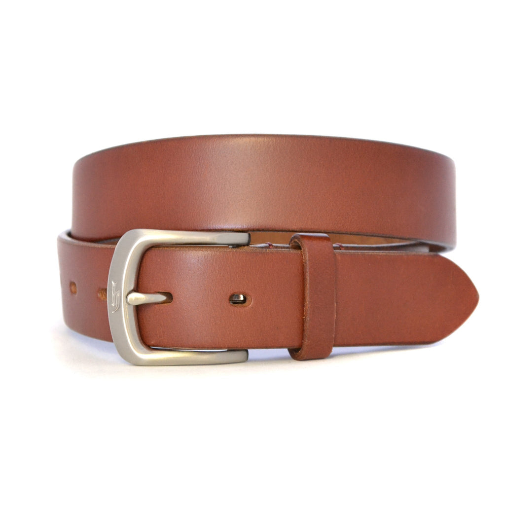 WARD - Mens Brown Tan Leather Belt  - Belt N Bags