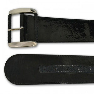 WHITNEY - Women's Black Faux Leather Belt - CLEARANCE  - Belt N Bags