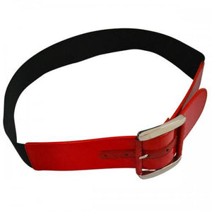 WHITNEY - Women's Red Faux Leather Belt - CLEARANCE  - Belt N Bags