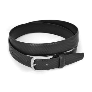 ZACK - Mens Black Leather Belt-Mens Belt-BeltNBags-BeltNBags