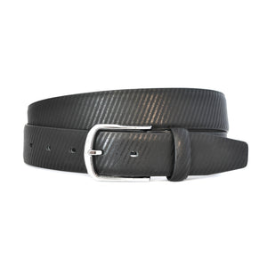 ZACK - Mens Black Leather Belt - BeltNBags